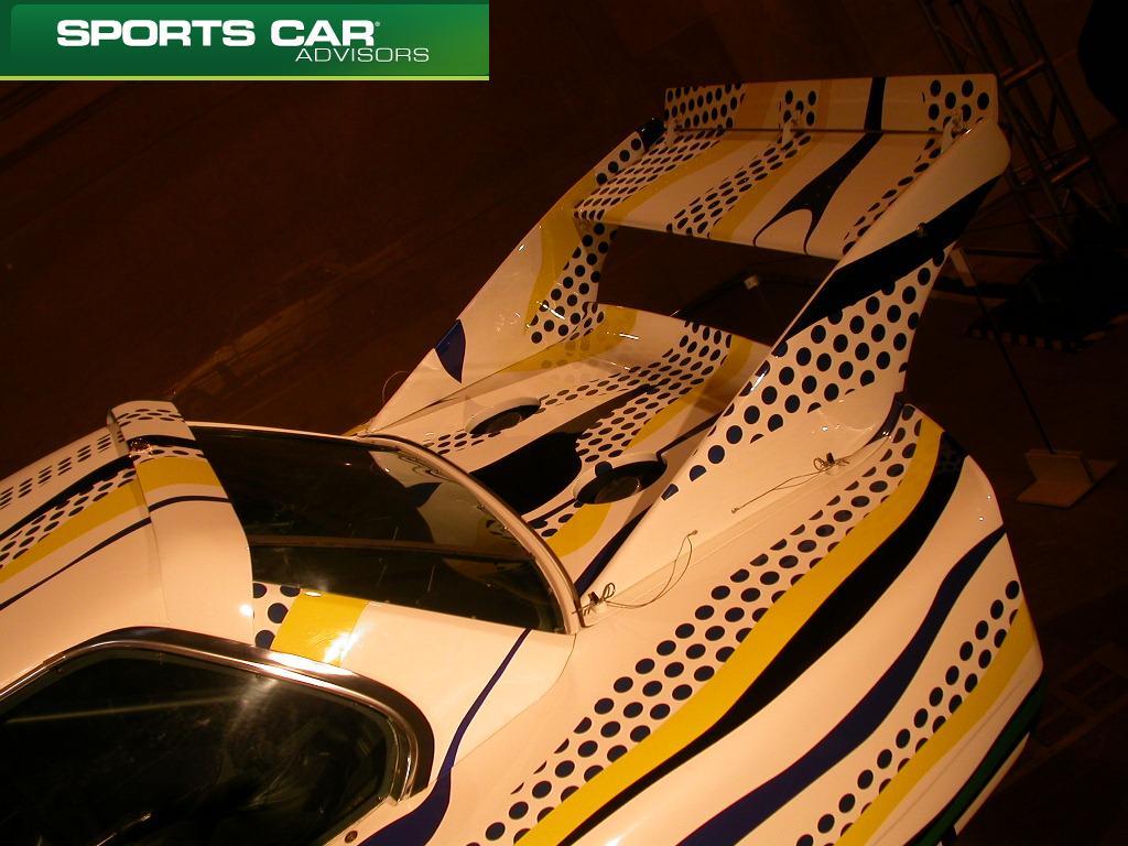 Lichtenstein Art Car Rear Wing