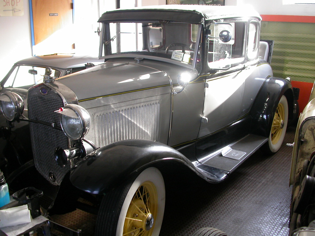 rumble seat at the rear