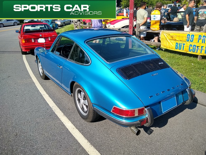 Blue 911 T Long Hood 2-4 Hayfields Cars and Coffee